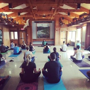 Yoga & Snowshoeing at Beaver Meadow